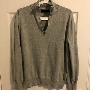 Men's grey half zip sweater
